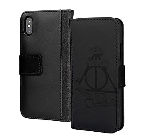 Harry Potter - Funda de piel sintética para Samsung Galaxy A50, diseño de triángulo, color negro