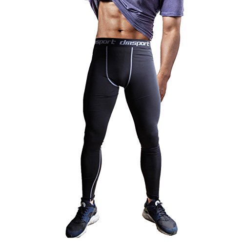 FITTOO Men's Sports Compression Fitness Pants Cool Dry Running Workout Tights Leggings