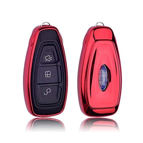 mächtig Auf 3-Knopf-Autoschlüsseletui für Ford TPU Silikonschlüsselhülle…
