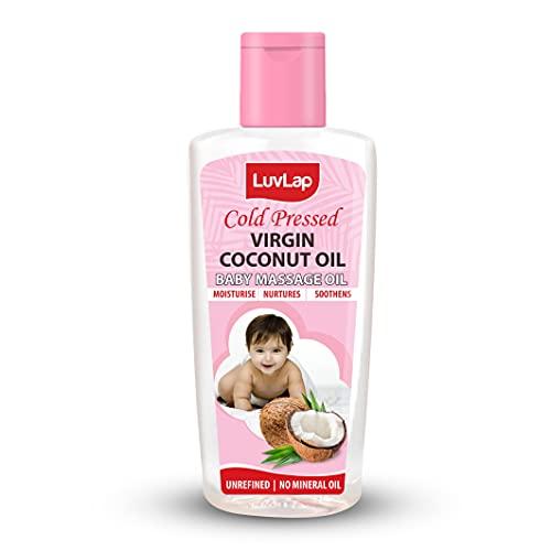 Luvlap Cold Press Virgin Coconut Baby Massage Oil 100ml, Pink