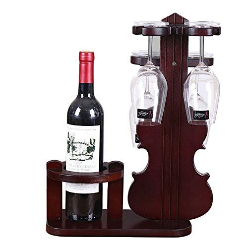 Sebasty Soporte De Vino De Madera Estante De Vino Estante De Vino Titular De Vidrio De Vino Revés Soporte De Vidrio De Vino Colgando Soporte De Vino De Vino