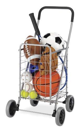 Whitmor Utility Durable Folding Design for Easy Storage Shopping Cart