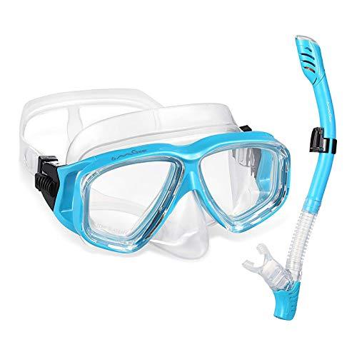 Easy Breathe Dry Snorkel Open Heel Strap HEAD Rapido Italian Design Premium Tempered Glass Lens Snorkeling Mask