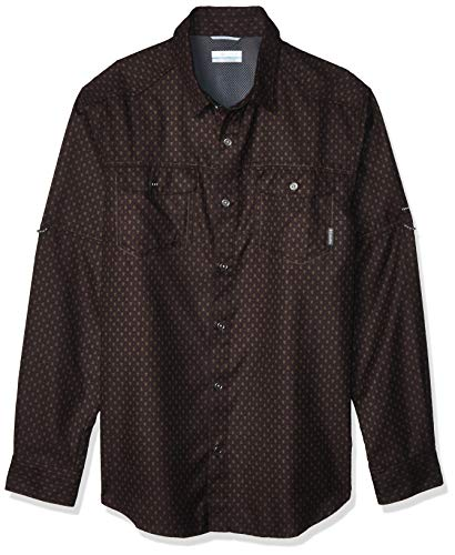 Columbia Men's Pilsner Lodge Print Long Sleeve Shirt, New Cinder Trees Print, Medium