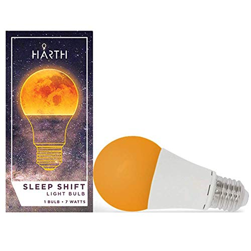 Sleep-Shift Sleep Ready Light. Sleep Better, Naturally! 7 watt LED Amber Bulb. Supports Healthy Sleep Patterns, Promotes Natural Melatonin Production with Ambient Low Blue Night Light.