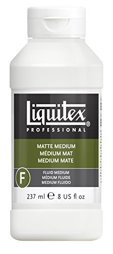 Liquitex Bs5108 Professional Matte Fluid Medium, 8 oz, Multicolor
