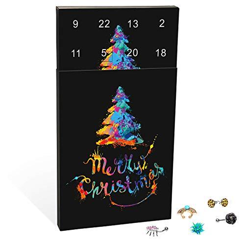 VALIOSA Piercing adventskalender Merry Christmas met individueel modesieraad voor o.a. oor, lip, septum of navel, het bijzondere cadeau voor mannen en vrouwen