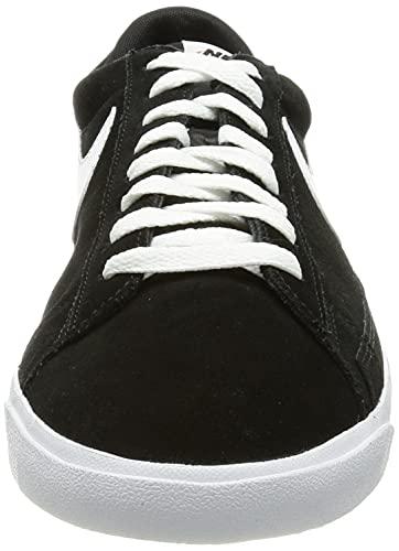 Nike Blazer Low Premium Vintage Suede, Zapatillas de bsquetbol Hombre, Blanco y Negro, 45.5 EU