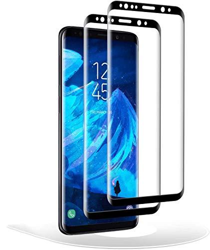 RIIMUHIR Verre Trempé pour Samsung Galaxy S8 Plus,Dureté 9H [2 pièces] Film Protecteur Vitre en Protecteur d'écran pour Samsung Galaxy S8 Plus,3D Touch,Anti-Rayures,9H Dureté