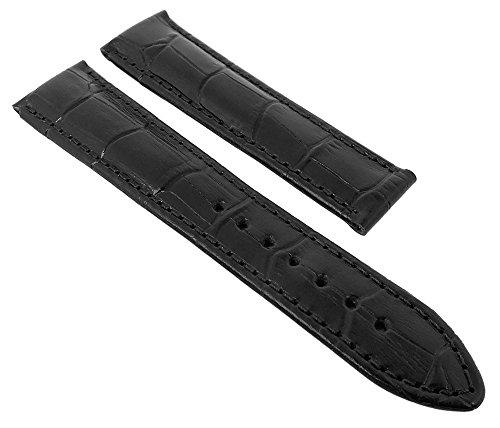 Maurice Lacroix Pontos Louisiana Uhrenarmband Leder schwarz ohne Symbol 21729, Stegbreite:20mm