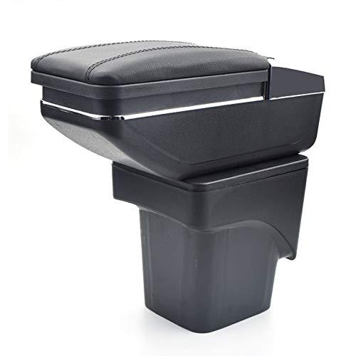 Para Ford Focus 2 MK2 2009-2012 Apoyabrazos Caja de almacenamiento Coches Reposabrazos Central Negro