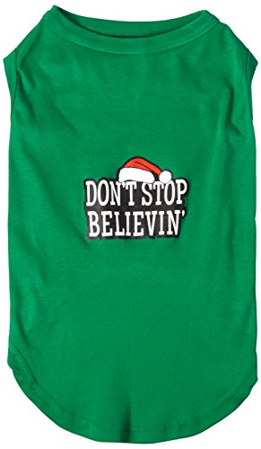 Price comparison product image Mirage Pet Products 18-Inch Don't Stop Believin' Screenprint Shirts for Pets,  XX-Large,  Emerald Green