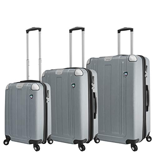 Mia Toro Italy Accera Hardside Spinner Carry-on,aluminum, One Size