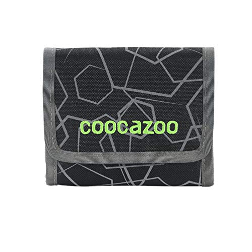coocazoo CashDash 'Magic Polka Colorful', black/grey, wallet with viewing window, coin compartment, lots of card slots, Velcro fastener, for boys from the 5th class