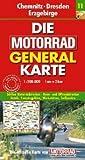 Motorrad Generalkarte Deutschland Chemnitz, Dresden, Erzgebirge 1:200 000 - MOTORRAD GENERALKARTE Mair