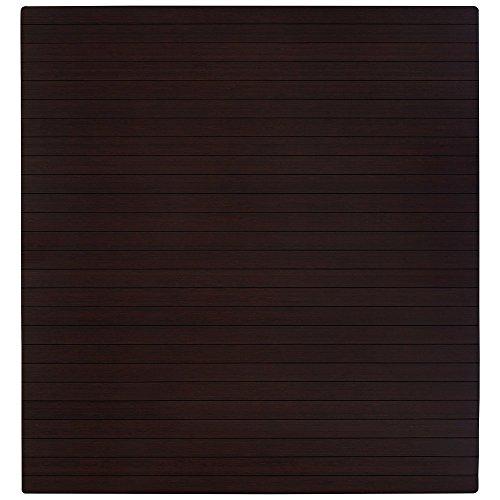 Anji Mountain Real Bamboo hard-floor-chair-mats, 48 x 52', Dark Cherry