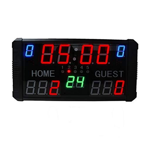 GAN XIN - Marcador LED con pantalla de 14 dígitos para baloncesto, tenis, fútbol, color Red + Green +Blue, tamaño 50cm*25cm *5cm
