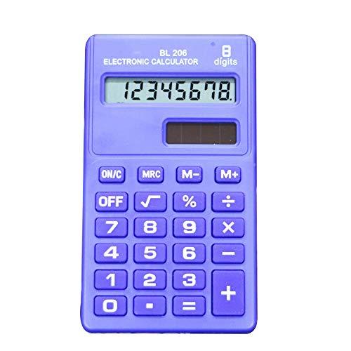 Ogquaton - Mini calculadora electrónica portátil de 8 dígitos, Pantalla LCD, calculadora de Bolsillo, básica, para Estudiantes, Suministros de Oficina, Color Azul Oscuro, Muy práctico y Popular
