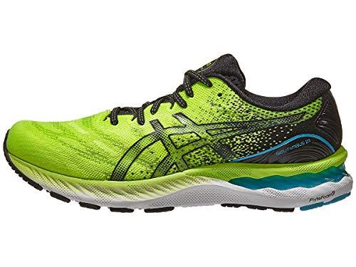 ASICS Men's Gel-Nimbus 23 Running Shoes, 10M, Hazard Green/Black