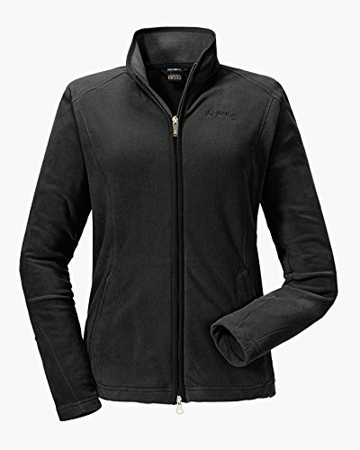 Schöffel Leona2 Damen Fleece Jacke, Schwarz (Light black), 44