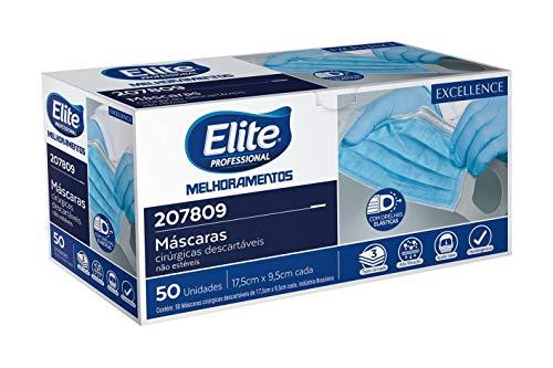 Máscaras Cirúrgicas Descartáveis Elite - Pack com 50 unidades, Elite, pacote de 50