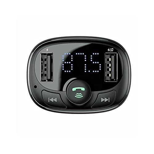 WEARRR Coche de Llamada de Manos Libres inalámbrico FM Transmisor MP3 Reproductor de música Dual USB Cargador (Color : B)