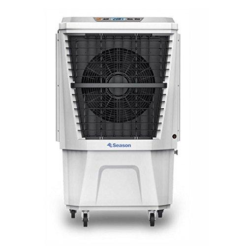 SEASON Climatizador nebulizador Ventilador evaporativo Gran caudal 4.500 m3/h depósito de Agua 40 ltrs, 3 velocidades, Muy Potente, bajo Consumo y ecológico. para terraza, Bar, jardín y estancias