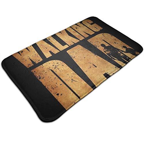 HUTTGIGH The Walking Dead - Felpudo antideslizante para puerta de entrada de baño, cocina o piso, 19,5 x 31,5 pulgadas