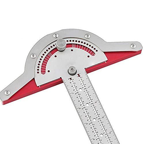 Woodworkers Edge Rule Herramienta de medición de transportador digital de gran capacidad, herramienta de medición de ángulo de regla de dos brazos de 10 pulgadas para carpintería para pintura