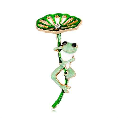 WANMEI Frog Brooch Green Fashion for Clothing Backpack Pin Creative Corsage Badge Icons