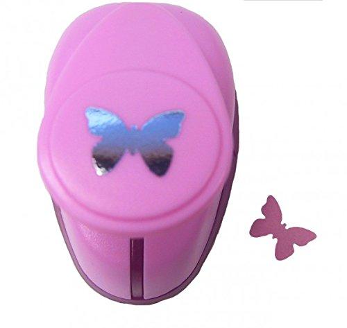 efco–Perforadora de Papel, diseño de Mariposas, Rosa, pequeño 3X 3X 3cm