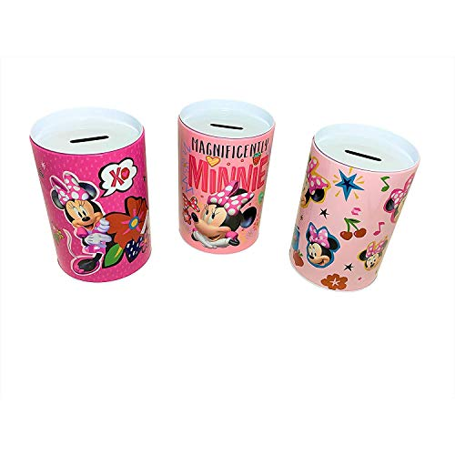 Set of Three Coin Bank Minnie Mouse Coin Bank, Magnificently Minnie, XOXO, Cool