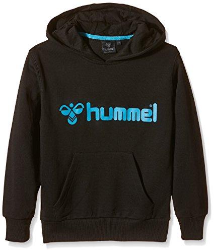 Hummel Jungen Sweatshirt Classic Bee Hood, Black/Hawaian Blue, 116-128, 36-500-2840