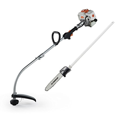 Buy Cheap Sunseeker GTI26-2-FP Attachment Grass Trimmer with Pole Saw, White