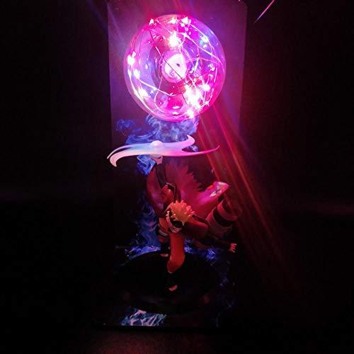 Luz LED Anime Naruto 3D Ilusión Figura Lámpara Creativa Naruto Luces de neón Led Luces de noche Lámpara de escritorio Naruto PVC Modelo de acción Juguetes Figura Estatua Niños Regalos