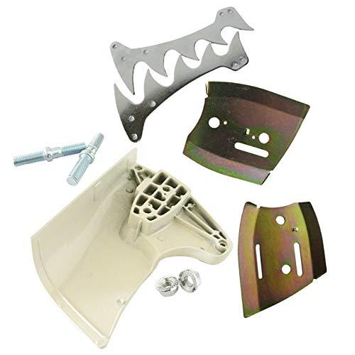 Hippotech Cubierta para piñón de cadena con placa de barra guía y placa lateral exterior para motosierra Stihl 070 090