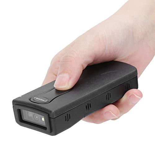 Mini Escáner De Código De Barras Inalámbrico,Lector Códigos QR Bluetooth USB,Lector Decodificador Cuadrado Automático,Escaneo De Detección,Pistola De Escaneo Rojapara Almacén,Tienda, Supermercado