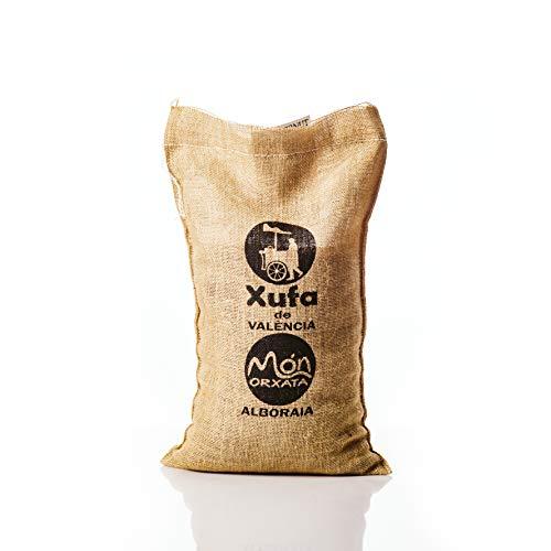 Saco yute 5 kg. Chufa tradicional a granel D.O. València - Món Orxata. Directa de familias agricultoras. Ideal para consumo crudo o elaboración de horchata. Conservar a menos de 15º.