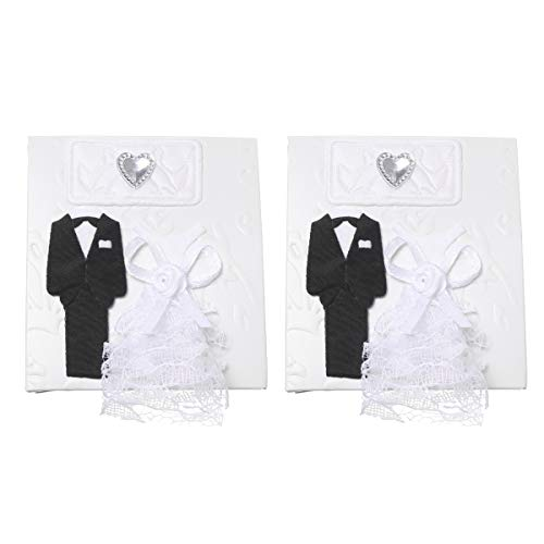 TomaiBaby 12 peças de estilo europeu branco criativo caixa de doces vestido de noiva e terno de noivo projeto caixa de presente moda doce embalagem para festa de