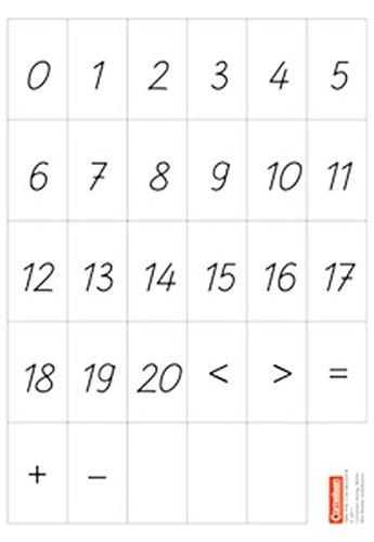 eins zwei drei - Mathematik: 1. Schuljahr - Zahlenkarten, Rechenzeichen: Kartonbeilagen. 10 Stück im Beutel (eins-zwei-drei - Mathematik-Lehrwerk für Kinder mit Sprachförderbedarf / Mathematik)