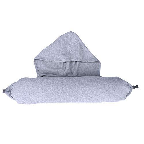 Almohada de viaje en forma de U almohada de viaje con capucha para avión almohada de viaje con capucha para almuerzo descanso viaje cuello almohada