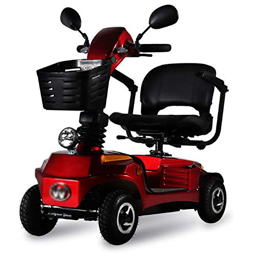 4 Wheel Electric Mobility Scooter Folding Lightweight,Foldable Wheelchair 44cm Wide Seat,Seniors Power Chair Travel Portable Heavy Duty,250w 16ah Batterry Endurance 20 Km,high Power Charger