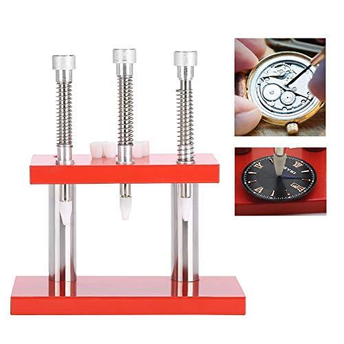Accesorio de Mano para Reloj, Herramienta de reparación de Reloj de Pulsera, Resistente al Agua, 3 Cabezales de presión, Extractor de Mano para Reloj,