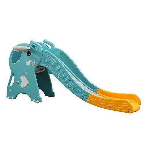 Wghz Kleinkindrutsche, 2 in 1 Kinderrutsche Erhöhen Sie die Armlehne Hohe Stabilität und langlebige Kunststoff-Kinderrutsche Klettern Spielrutsche Schritte für den Innen- und Außenbereich