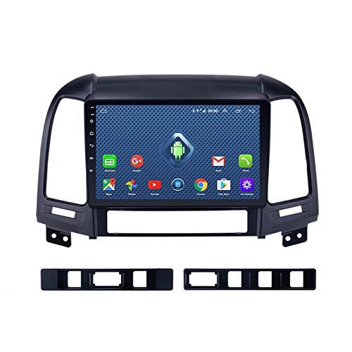 Android 8.1 Autoradio per Hyundai Santa Fe 2005-2012 Car Stereo Navigazione GPS Touch Display Car Media Player Doppio DIN unità di Testa Supporto WiFi Controllo del Volante(Color:4G+WiFi:2+32G)