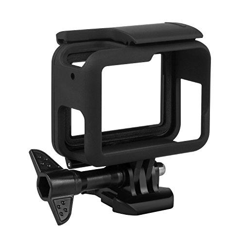 Kupton Rahmen kompatibel mit GoPro Hero7/(2018) 6/5 Black mit Quick Pull Beweglichen Sockel und Schraube, Schutzgehäuse kompatibel mit GoPro Hero7/(2018) 6/5 Black