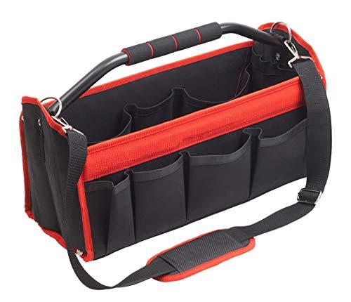 Cutting Line Werkzeugtasche 400 mm - Unbestückt - Viele Aufbewahrungsfächer - Stabiler Komfort-Tragebügel - Inkl. verstellbarem Schultergurt - Aus Polyester / Montagetasche / Werkzeugbox / 4541100
