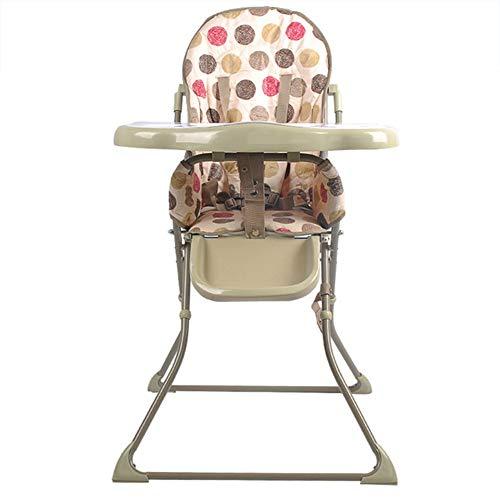 Mr.LQ - Silla de comedor para niños, ligera, plegable, impermeable, portátil, para bebés