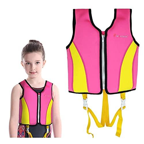 Kinder Schwimmweste Jungen Mädchen Neopren Schwimmen Jacke Kleinkind Flotation Badeanzug Bademode Schwimmtraining Hilfe mit Einstellbare Sicherheits Straps Schwimmen Lernen, 3-6 Jahre
