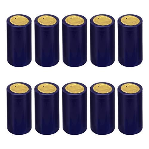 YARNOW 100 Unids Pvc Cápsulas Termocontraíbles Botella de Vino Tapas Retráctiles Envoltura Retráctil de Vino Corchos de Botella de Vino Cápsulas para Bodegas 30 Mm Azul
